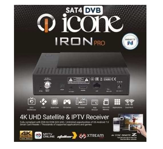 ICONE IRON  Démodulateur IPTV 4K  algerie  ايكون ايرون برو